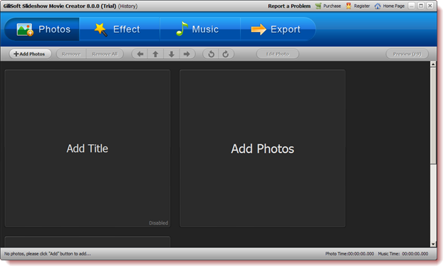 Gilisoft Slideshow Movie Creator - Combine your photos into